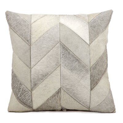 Heritage Leather Throw Pillow Color: Grey