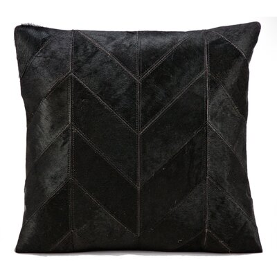 Heritage Leather Throw Pillow Color: Black
