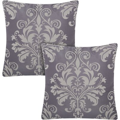Dasmask Throw Pillow Color: Charcoal Grey