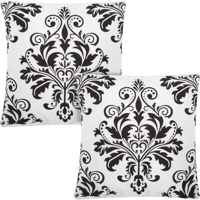 Dasmask Throw Pillow Color: White Black