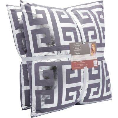 Metallic Throw Pillow Color: Charcoal Grey