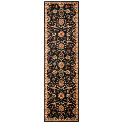 Babylon Ancient Times Persian Treasure Black Area Rug Rug Size: Runner 22 x 76