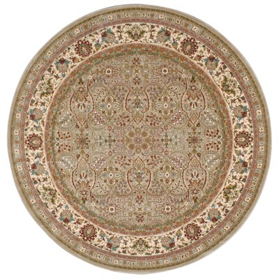 Antiquities American Jewel Cream Area Rug Rug Size: Round 710 x 710