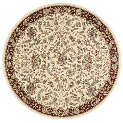 Antiquities Timeless Elegance Ivory Area Rug Rug Size: 53 x 53