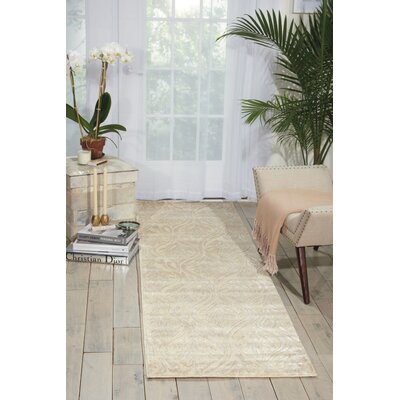 Hollywood Shimmer Beige Area Rug Rug Size: Rectangle 39 x 59