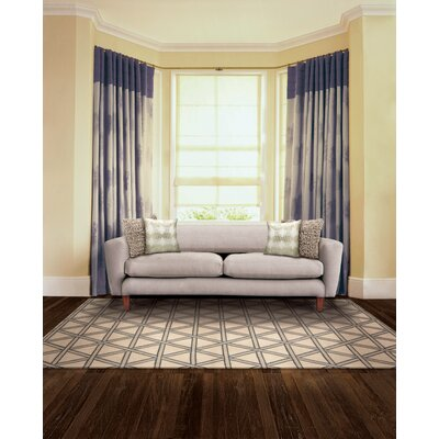 Hollywood Shimmer Metro Crossing Gray/Tan Area Rug Rug Size: Rectangle 93 x 129