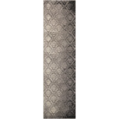 Santa Barbara Royal Shimmer Gray Area Rug Rug Size: Runner 22 x 8