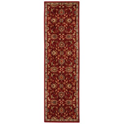 Babylon Ancient Times Ancient Treasures Red Area Rug Rug Size: Runner 22 x 76