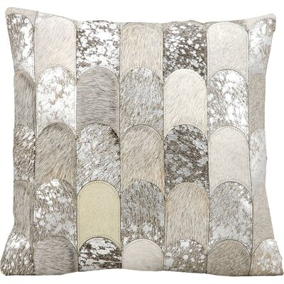 Cinderford Natural Leather Throw Pillow Color: Silver/Grey