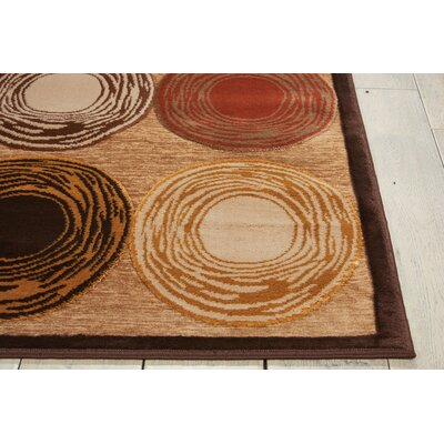 Bel Air Prelude Brown Area Rug Rug Size: Rectangle 79 x 99