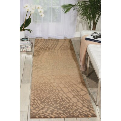 Palisades Lava Flow Hand-Tufted Light Olive Area Rug Rug Size: 39 x 59