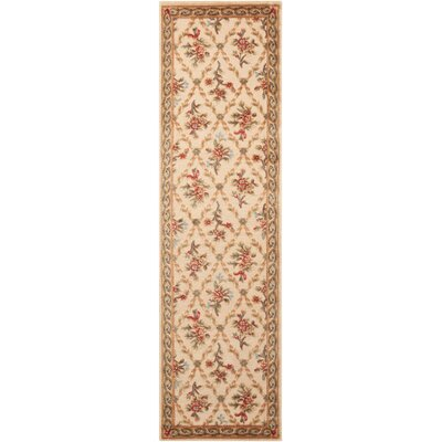 Villa Retreat Washing Estate Cream Area Rug Rug Size: Runner 23 x 8