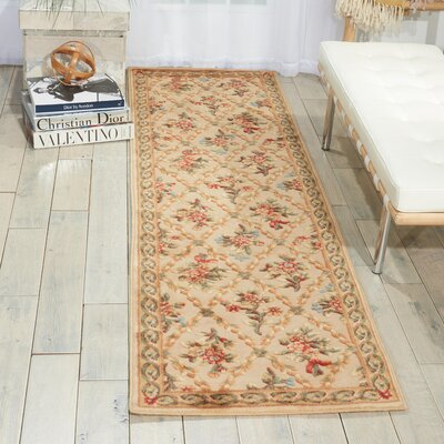 Villa Retreat Washing Estate Cream Area Rug Rug Size: 79 x 1010
