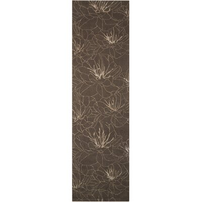 Palisades Wildflowers Hand-Tufted Gray Area Rug Rug Size: Runner 23 x 8