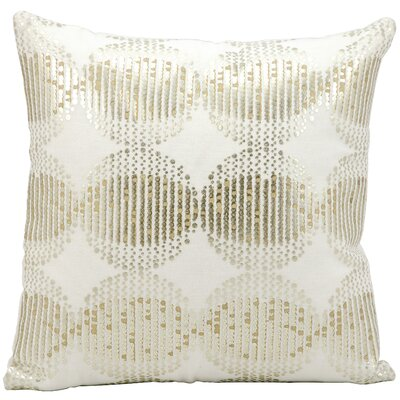 Silver Globes Cotton Throw Pillow