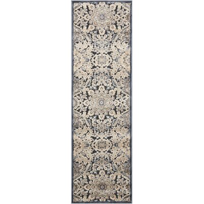Bel Air  Marseille Charcoal Area Rug Rug Size: Runner 21 x 7