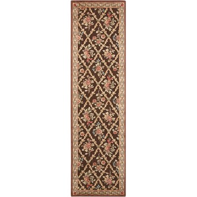 Villa Retreat Washington Estate Chocolate Area Rug Rug Size: Runner 23 x 8