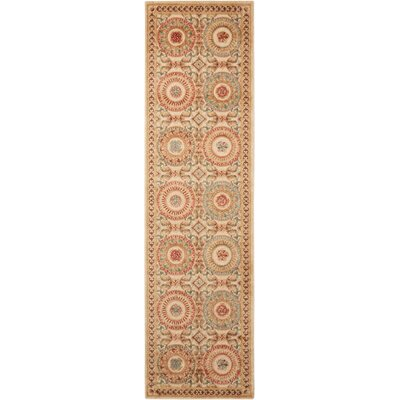 Villa Retreat Celestial Elegance Cream Area Rug Rug Size: Runner 23 x 8