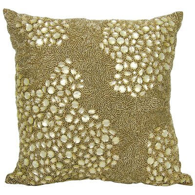 Hertzog Throw Pillow Color: Green, Size: 16 H x 16 W
