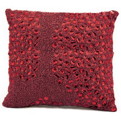 Hertzog Throw Pillow Color: Red, Size: 16 H x 16 W
