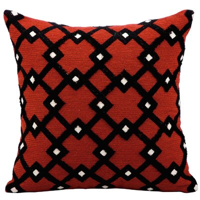 Wool Throw Pillow Color: Rust