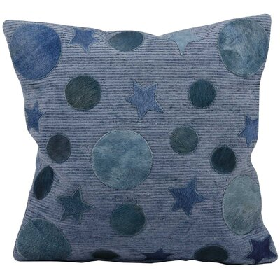 Serpentis Leather Throw Pillow Color: Blue