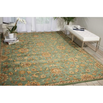 Ancient Times Teal Area Rug Rug Size: 79 x 1010