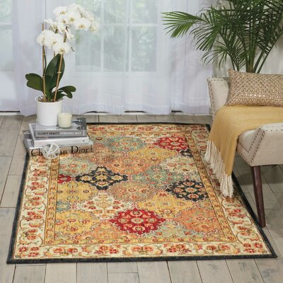 Ancient Times Gold/Taupe Area Rug Rug Size: 93 x 129