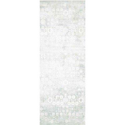 Desert Skies Hand-Loomed Silver Area Rug Rug Size: Runner 23 x 8