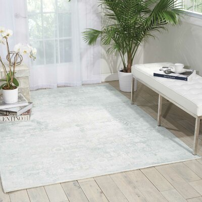 Desert Skies Hand-Loomed Silver Area Rug Rug Size: Rectangle 8 x 11