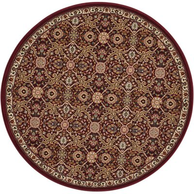 Antiquities Brown Area Rug Rug Size: Round 39