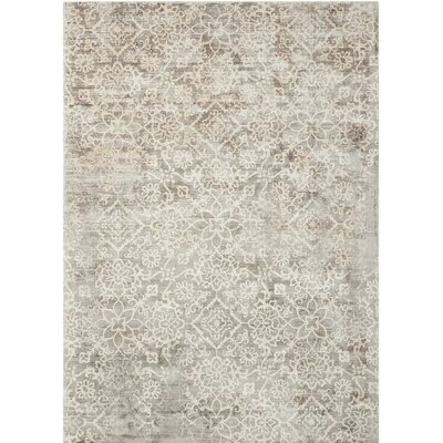 Desert Skies Hand-Loomed Gray Area Rug Rug Size: Rectangle 53 x 75