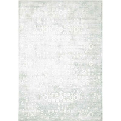 Desert Skies Hand-Loomed Silver Area Rug Rug Size: Rectangle 9 x 12