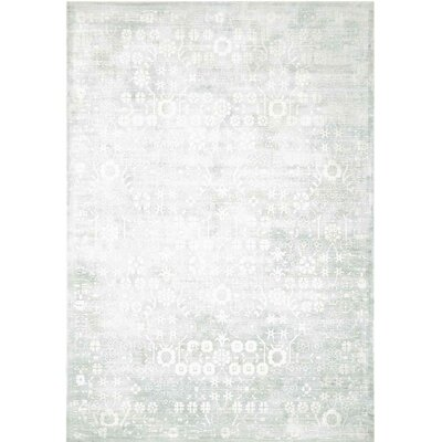 Desert Skies Hand-Loomed Silver Area Rug Rug Size: Rectangle 39 x 59