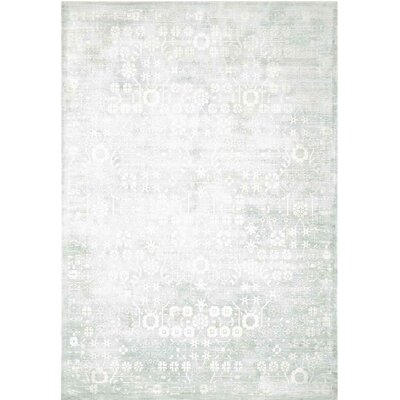 Desert Skies Hand-Loomed Silver Area Rug Rug Size: Rectangle 53 x 75