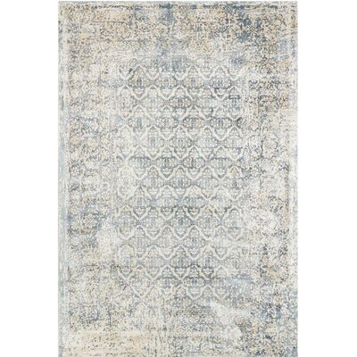 Desert Skies Hand-Loomed Blue Area Rug Rug Size: 53 x 75