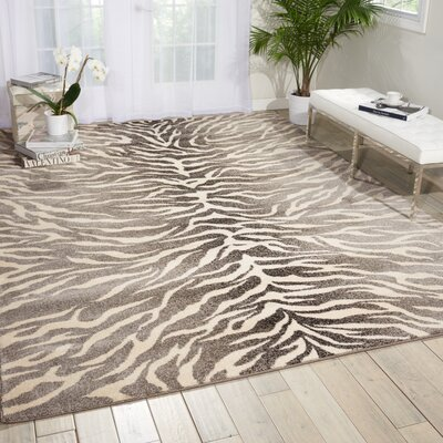 Santa Barbara Safari Gray Area Rug Rug Size: 53 x 75