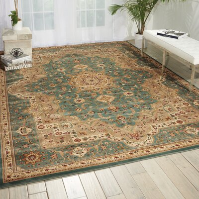 Antiquities Imperial Garden Slate Blue/Sage Area Rug Rug Size: Rectangle 910 x 132