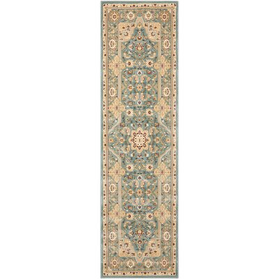 Antiquities Imperial Garden Slate Blue/Sage Area Rug Rug Size: Runner 22 x 76