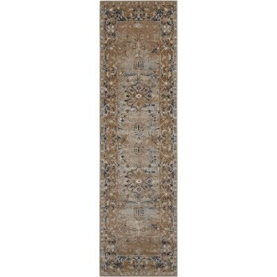 Malta Brown Area Rug Rug Size: Runner 22 x 77
