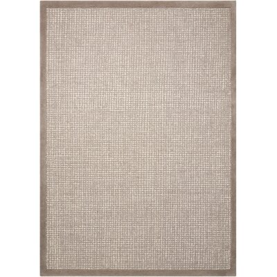 River Brook Hand-Tufted Brown/Ivory Area Rug Rug Size: 53 x 75
