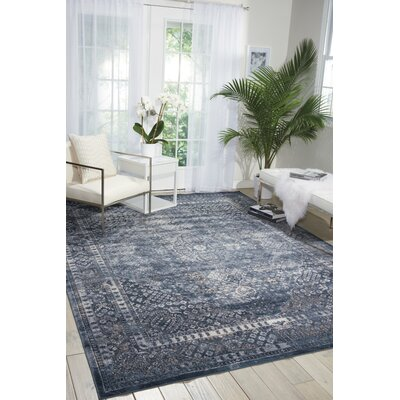 Malta Navy Area Rug Rug Size: Rectangle 311 x 57