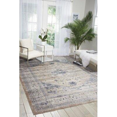 Malta Blue Area Rug Rug Size: Rectangle 5'3