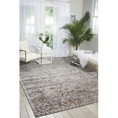 Malta Gray Area Rug Rug Size: Rectangle 53 x 77