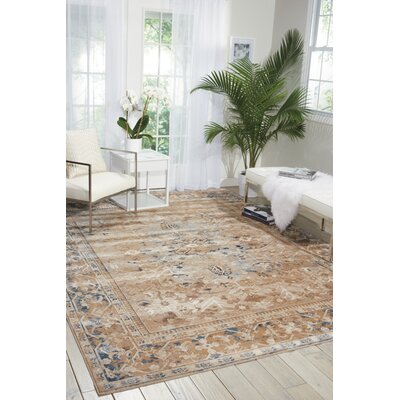 Malta Brown Area Rug Rug Size: Rectangle 53 x 77