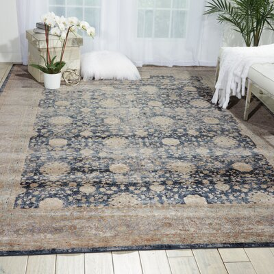 Malta Navy Area Rug Rug Size: Rectangle 53 x 77