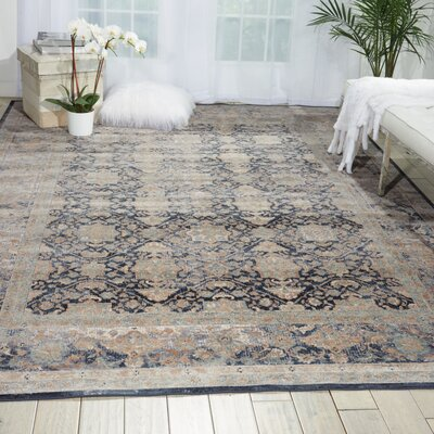 Malta Navy Area Rug Rug Size: Rectangle 9 x 12