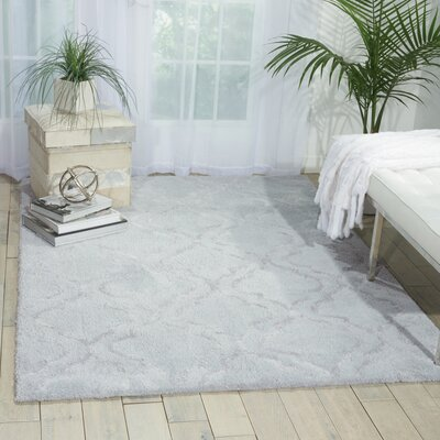 Hand-Tufted Light Gray Area Rug Rug Size: 76 x 96