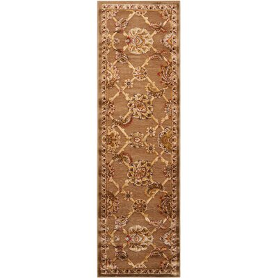 Bel Air Buckingham Brown Area Rug Rug Size: Runner 21 x 7