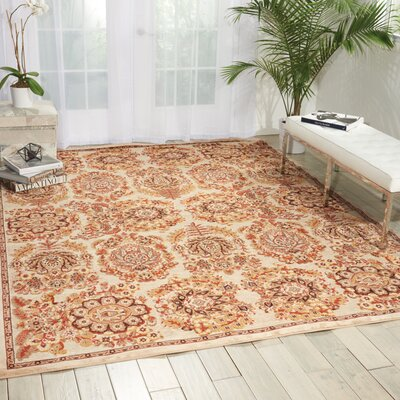 Bel Air Versailles Ivory Area Rug Rug Size: Rectangle 9 x 12